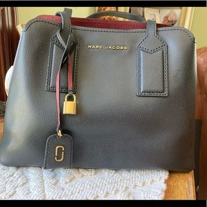 Marc Jacobs The Editor 38 Logo Leather Tote Bag